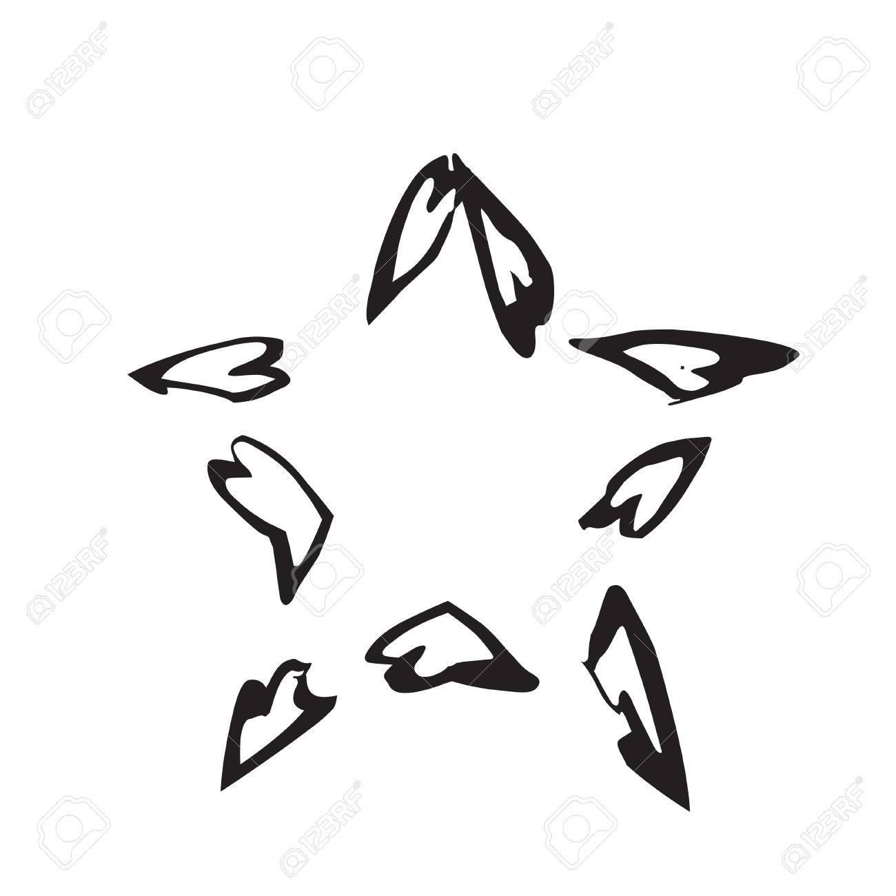 star patriot symbol grunge vector shape vector star black old rh 123rf com grunge vector collections grunge vector images