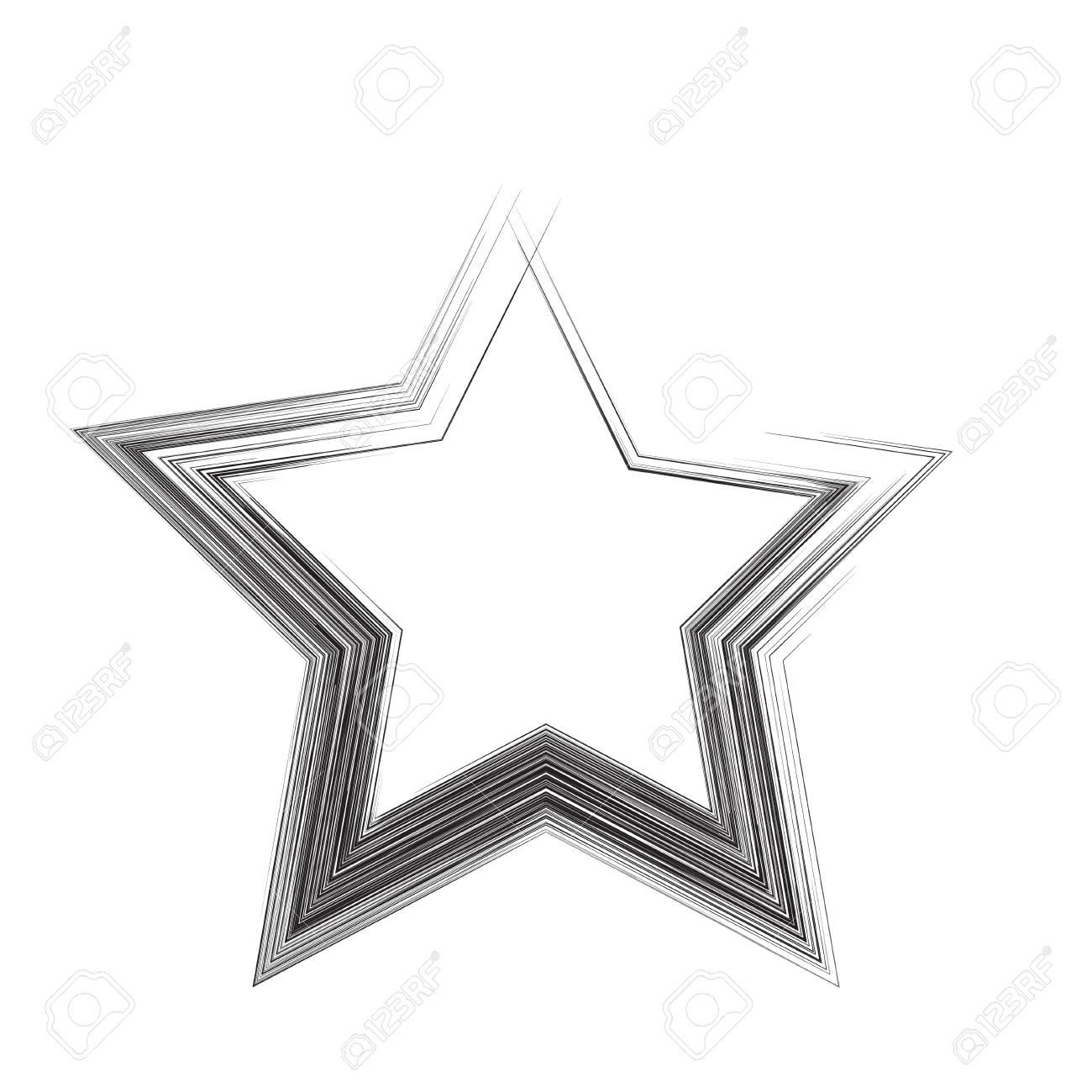 Star Patriot Symbol Grunge Vector Shape Vector Star Black Old
