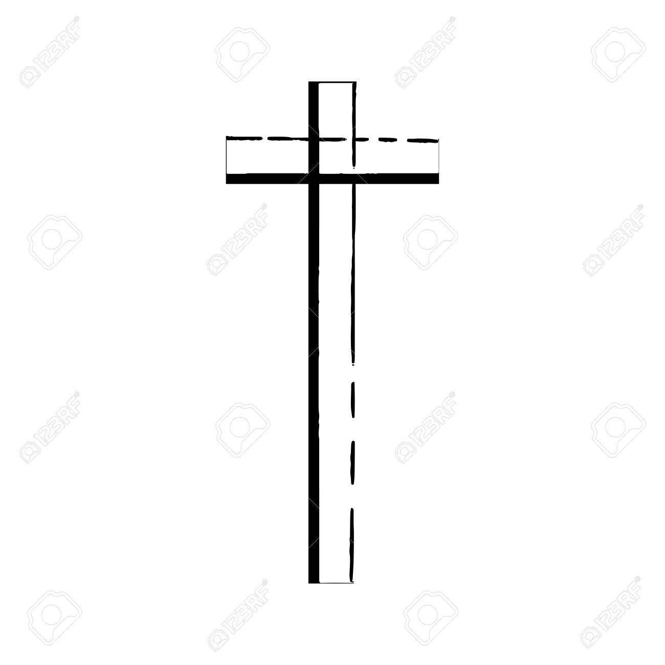 Christian Cross Grunge Vector Religion Symbol The Cross Of Jesus