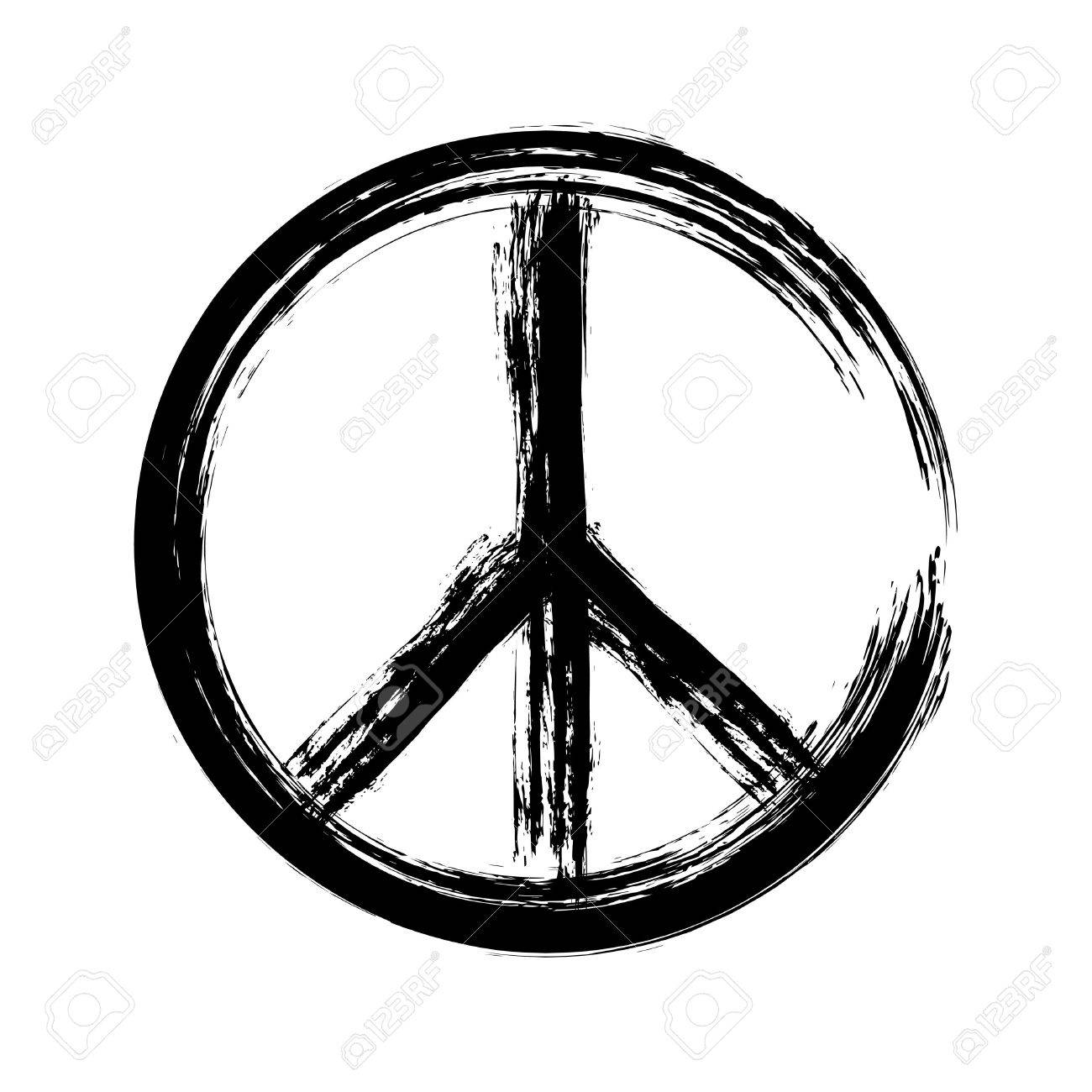 peace symbol icon vector. War and peace friendship pacifism. peace illustration - 56975677