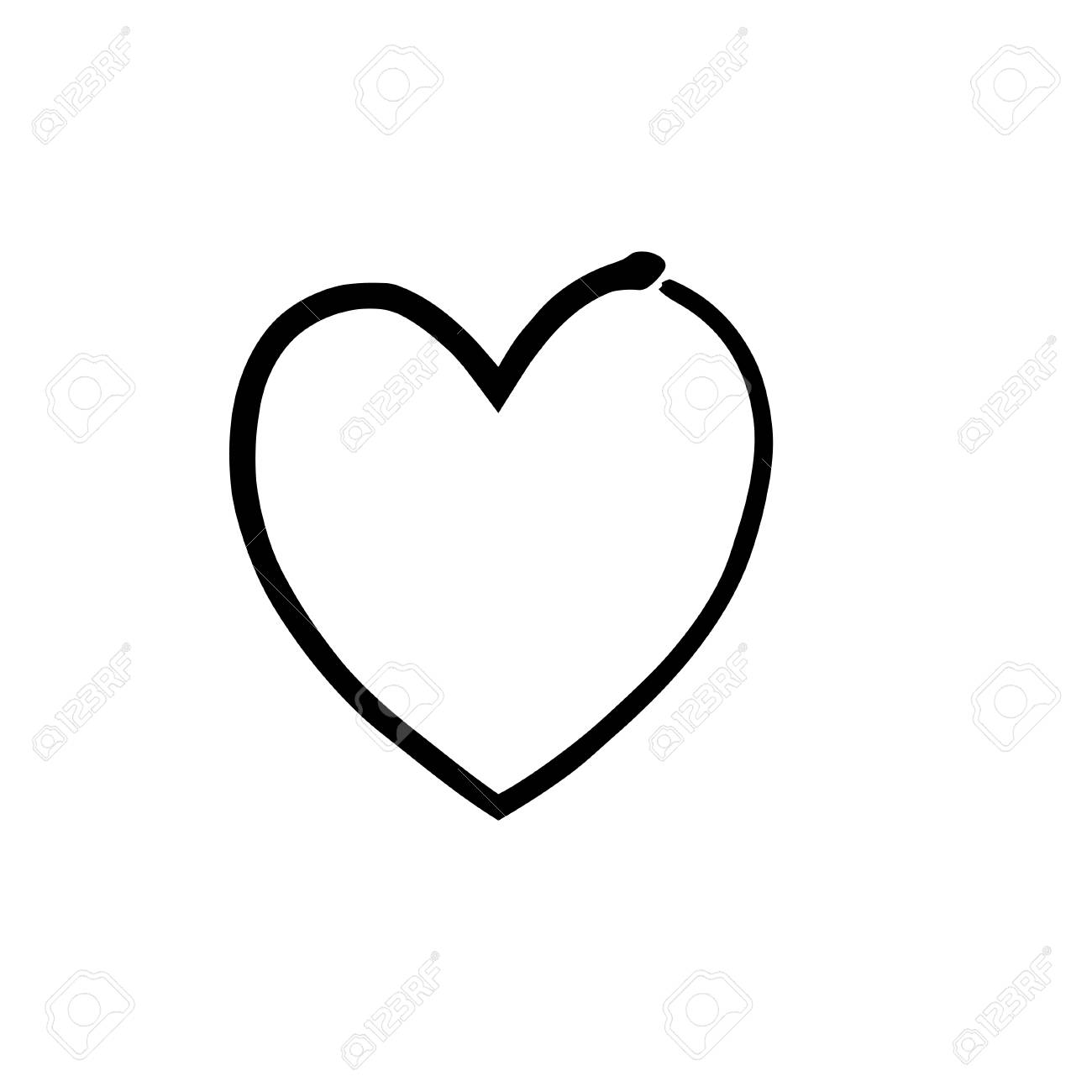 heart shape symbol love vector black heart symbol wedding and rh 123rf com vector heart shape free heart shaped leaf vector
