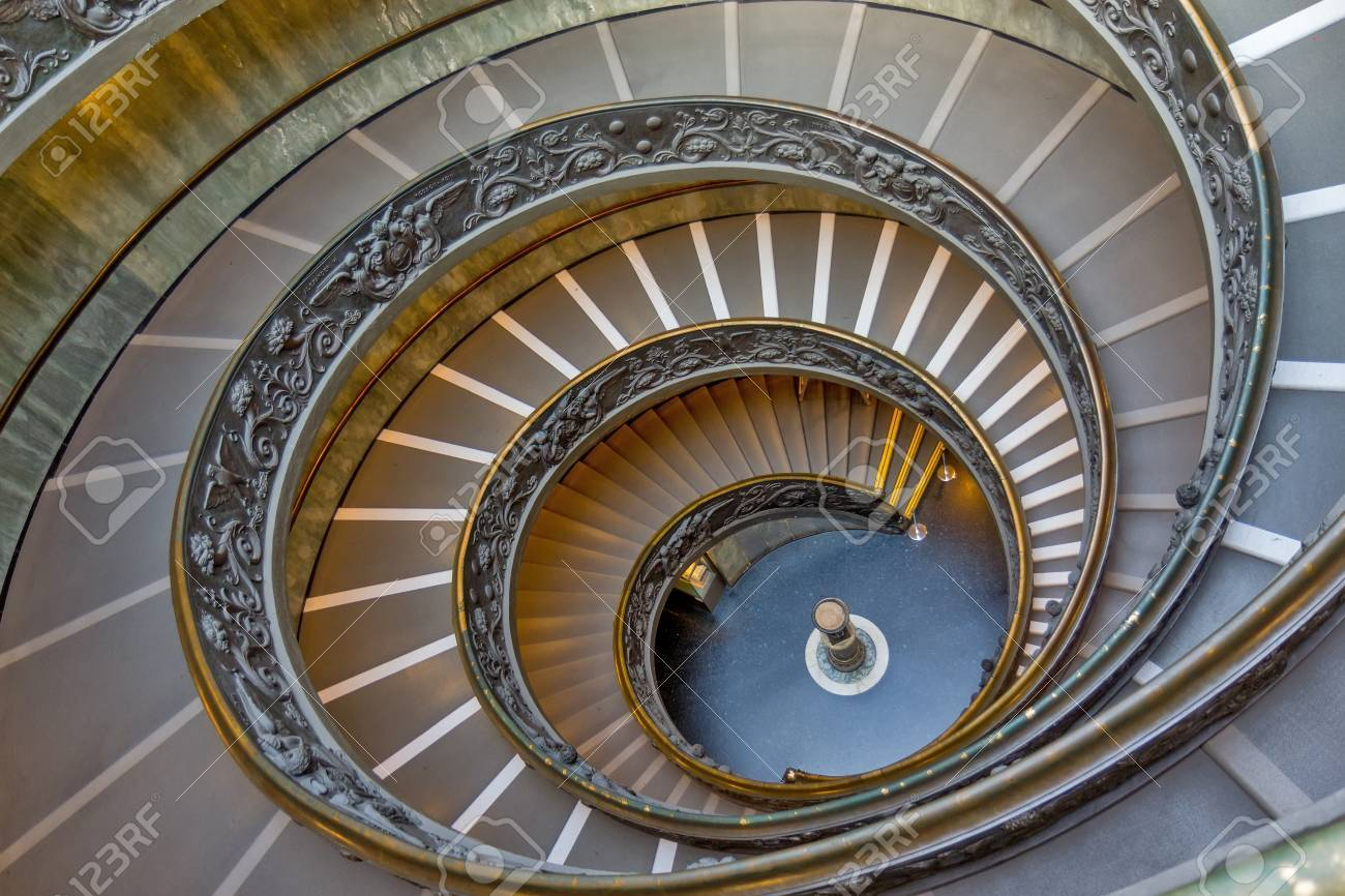 Scale A Spirale.Spiral Stairs Of The Vatican Museums Vatican City Rome Italy