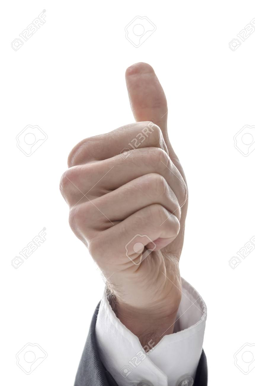 Hand of a business man showing an ok sign Stock Photo - 17508278