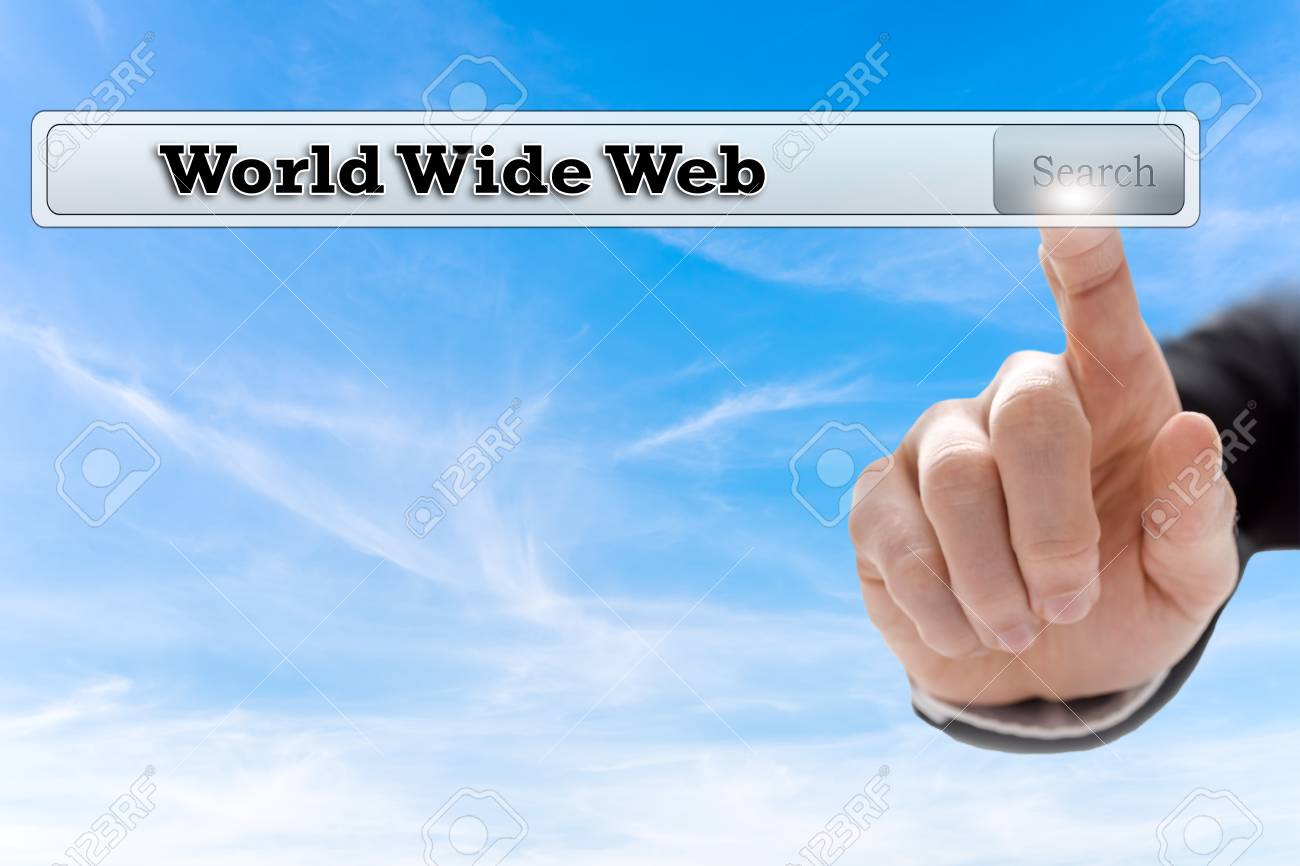 World Wide Web written in search bar on virtual screen Stock Photo - 24393210