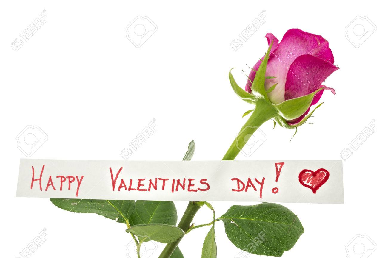 Happy Valentines Day Greeting Card With A Handwritten Message – Valentine Day Greeting Card Messages