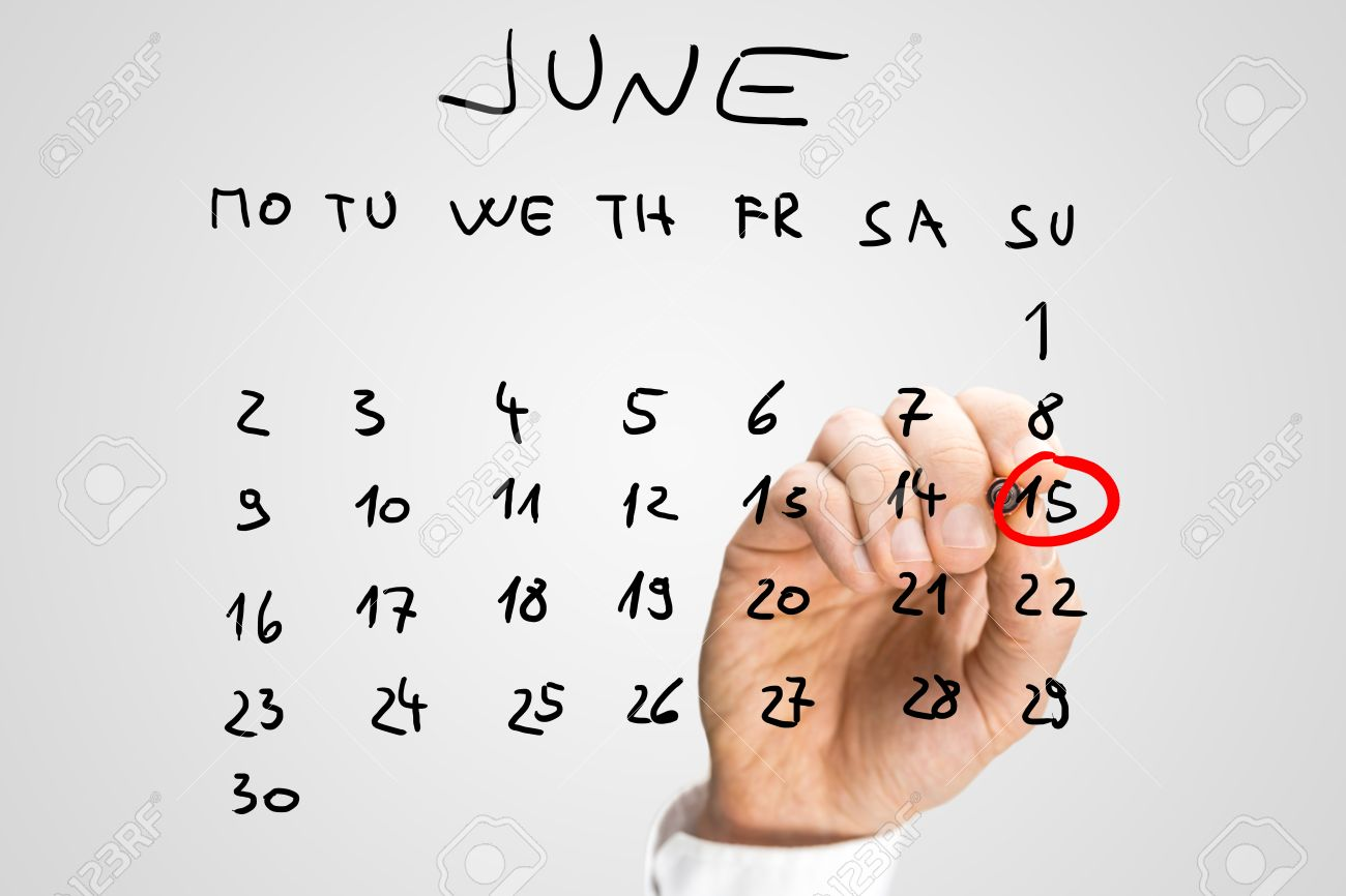 Calendrier Virtuel.Fete Des Peres Sur Le Calendrier Virtuel Homme Reservant 15 Juin Main
