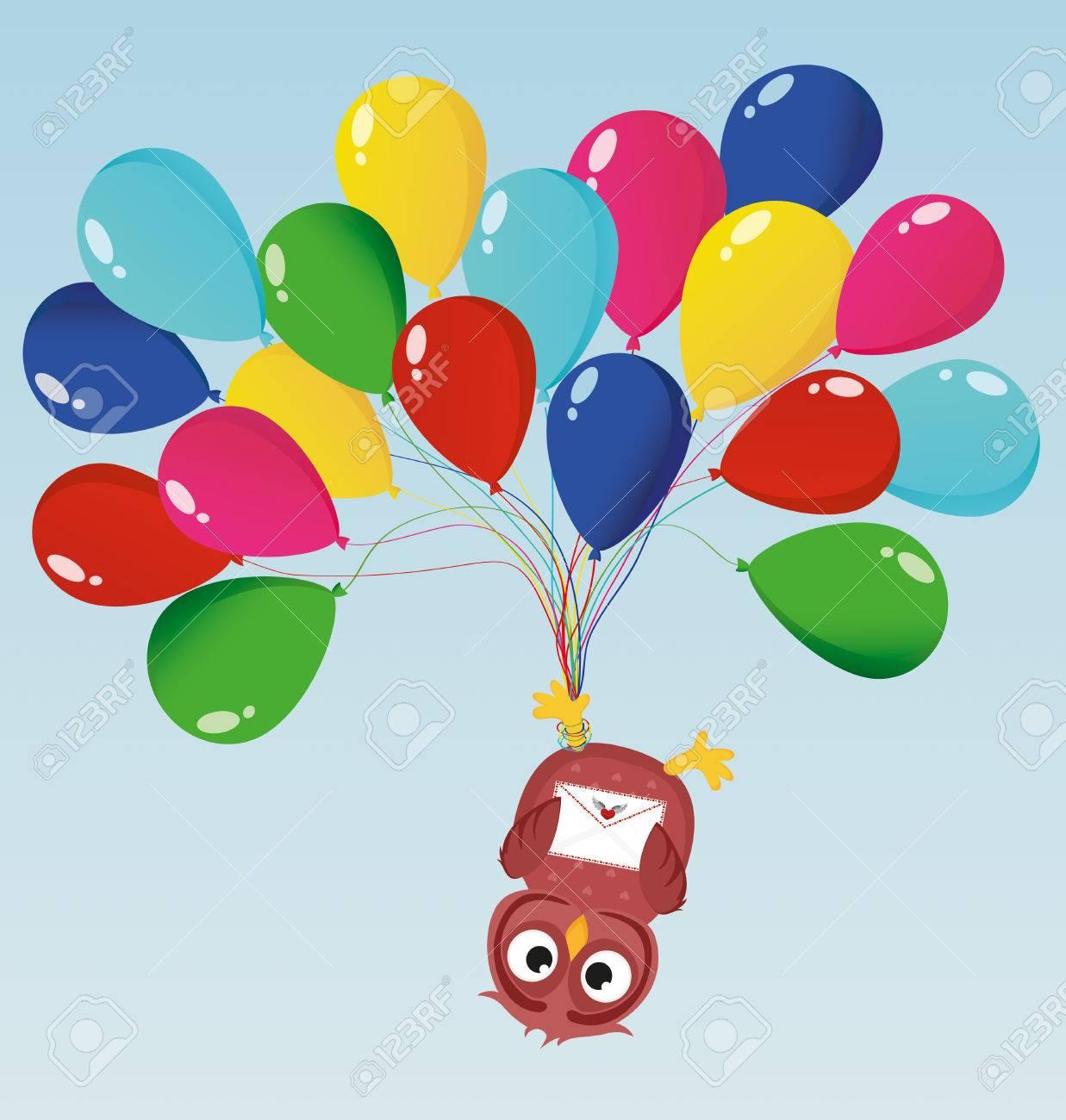 Favorito Cartolina Di Auguri O Invito Per Un Compleanno E Una Vacanza. Il  WK86