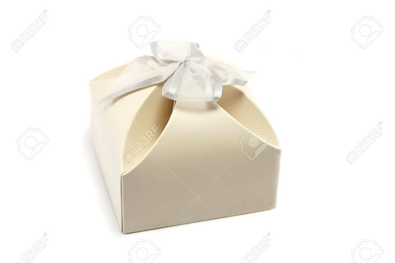 Neat Little Gift Box, Often Used For Wedding Favours Stock Photo ...