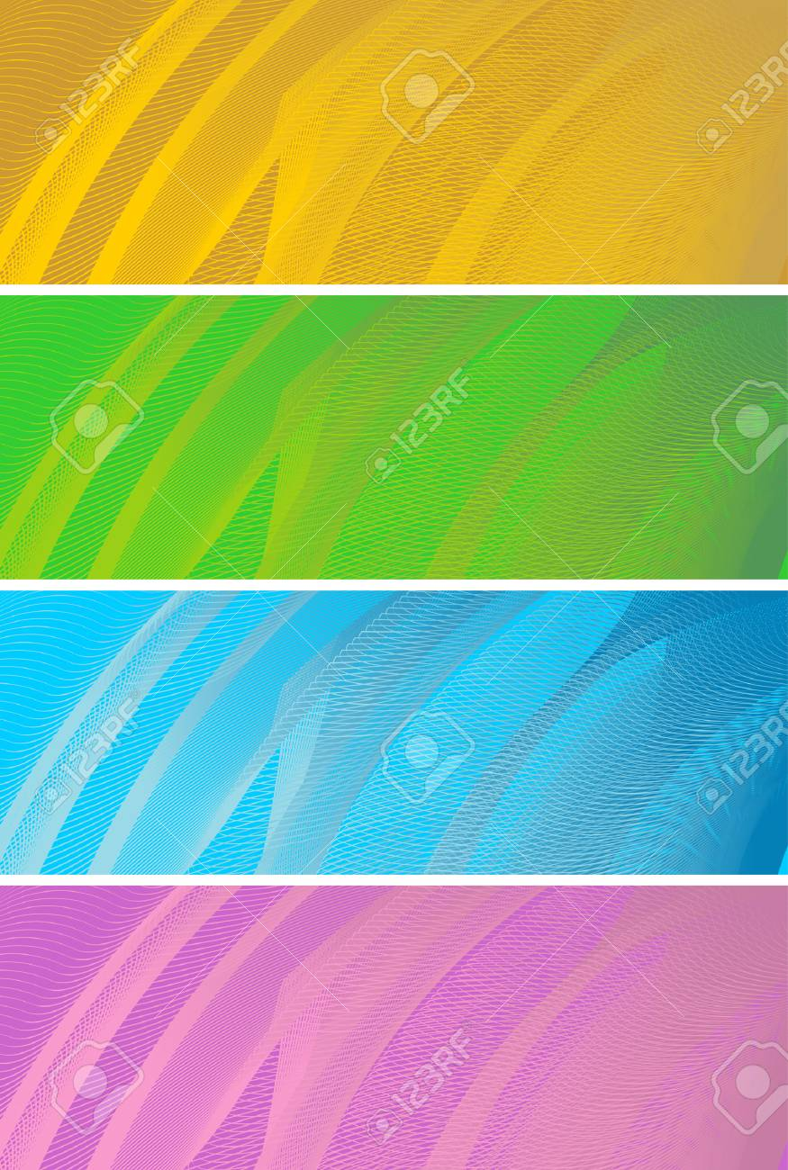abstract banners, stylized waves, place for text Stock Vector - 2672072