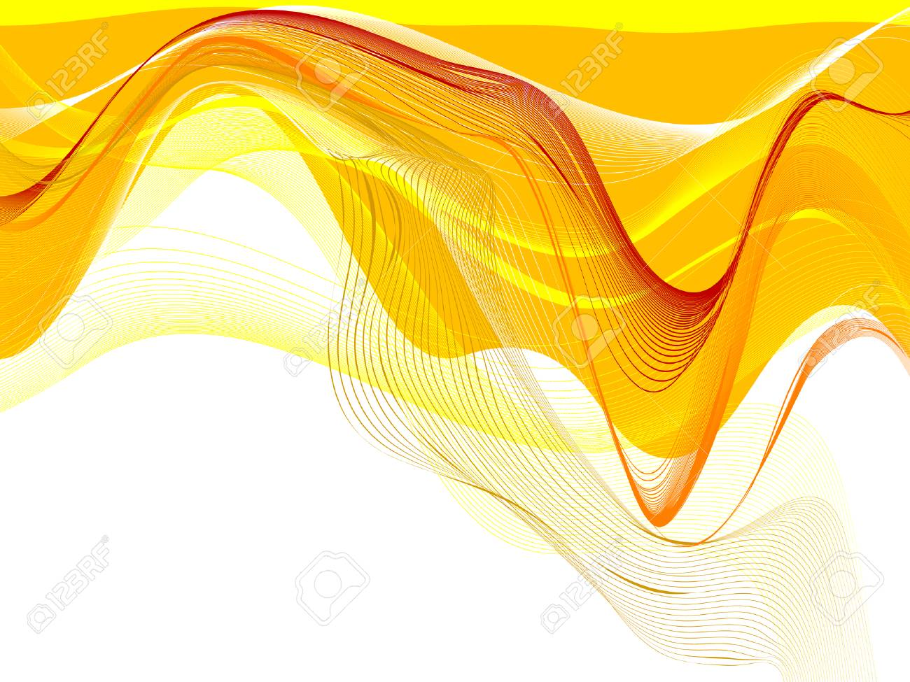abstract background, vector, stylized waves, place for text Stock Vector - 3674074