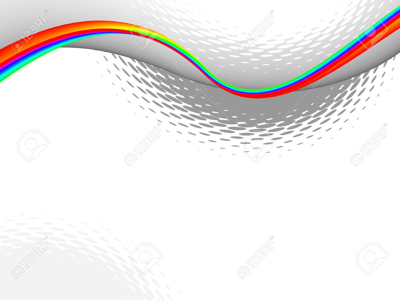 colorful wave, vector background with copy-space Stock Vector - 6381328