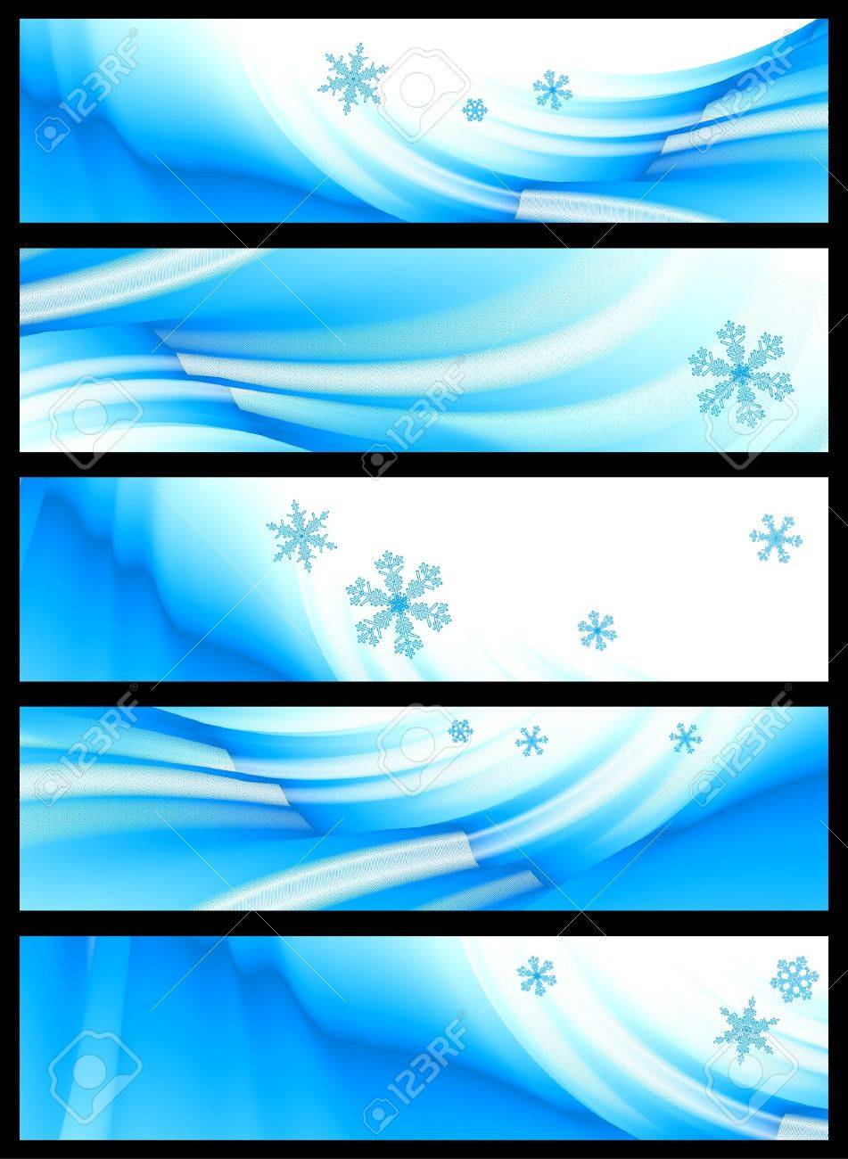 set of five winter banners - 7744285