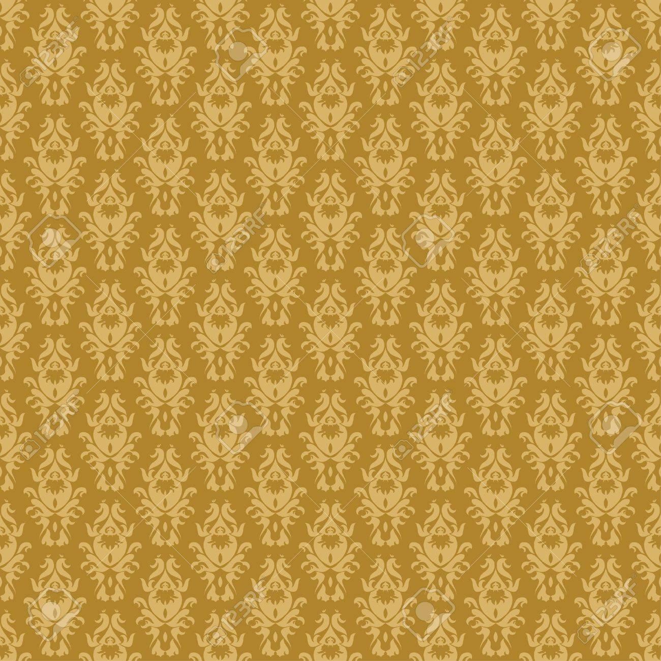 Vintage damask wallpaper Stock Vector - 8213557