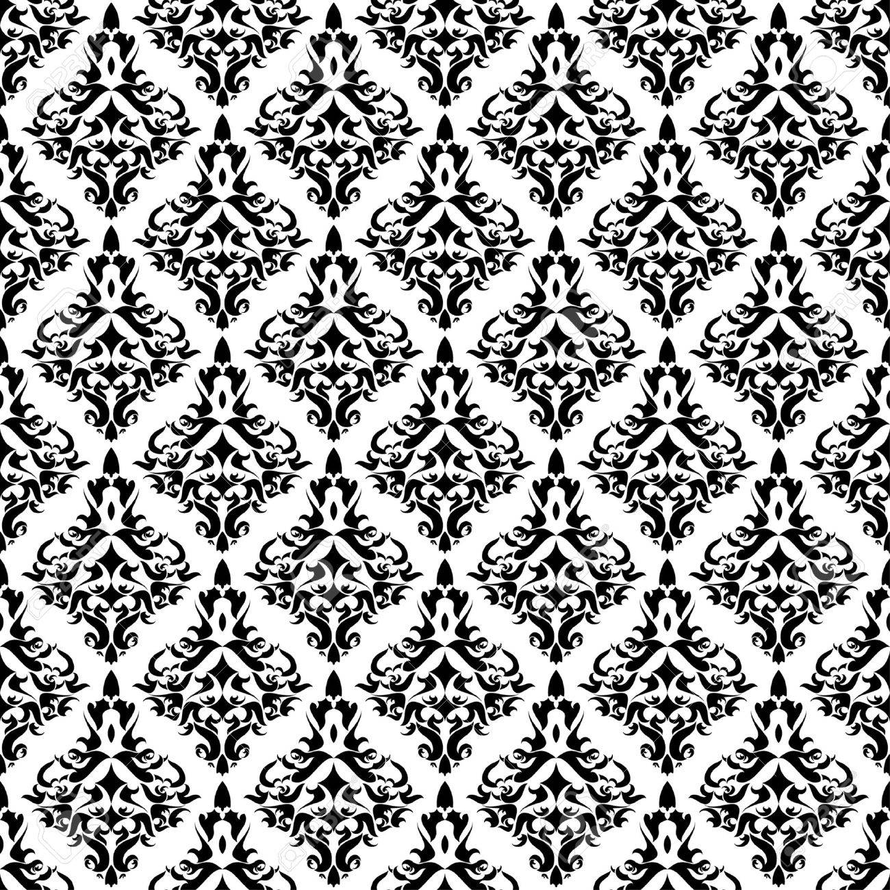 Vintage damask wallpaper - 8213550