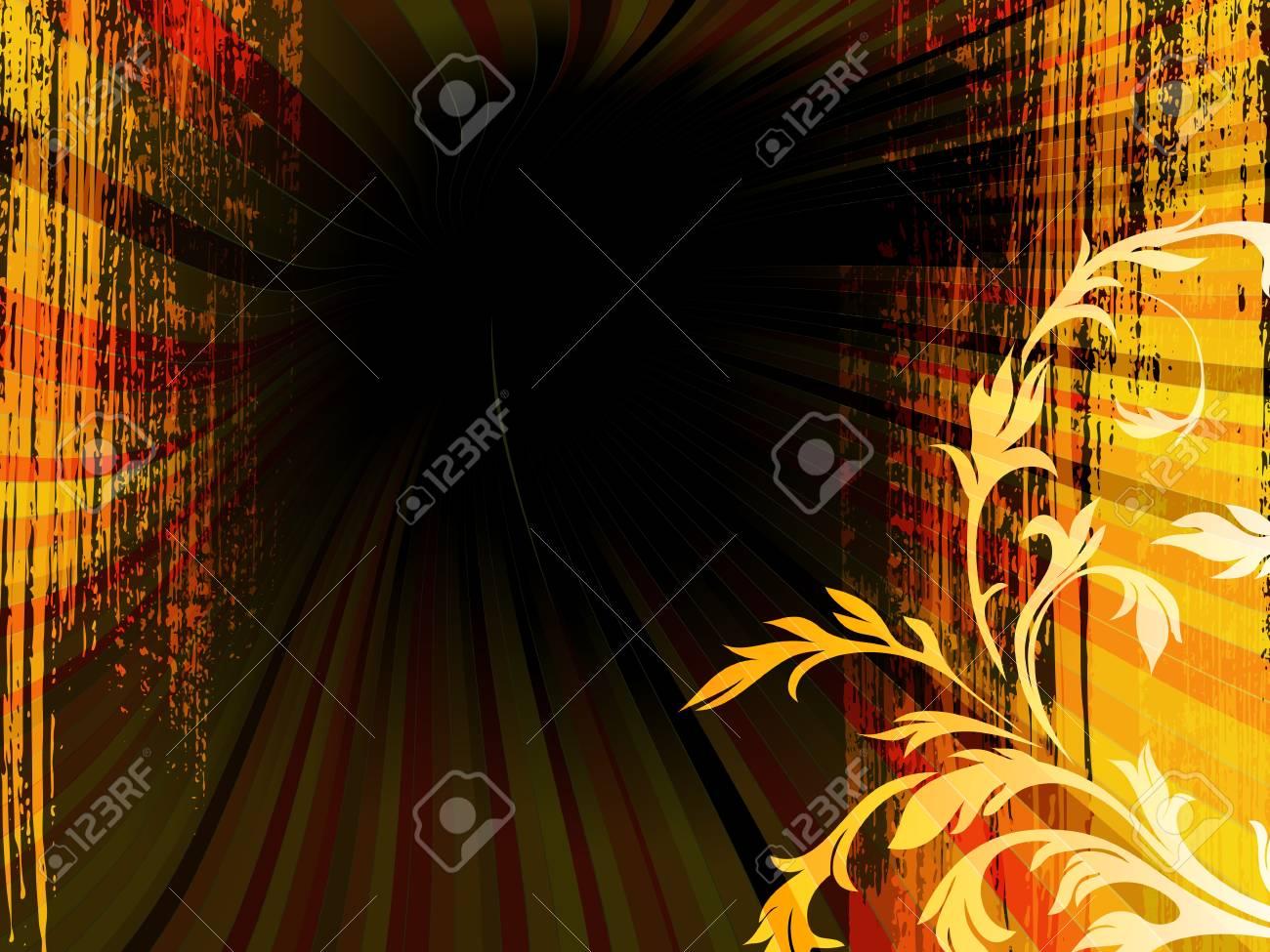 floral grunge background - 9388341