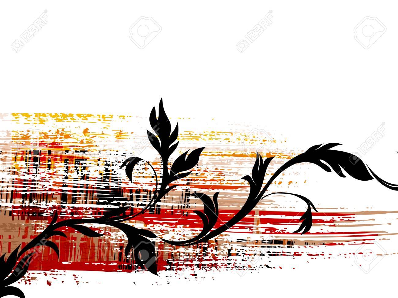 illustration of floral grunge background Stock Vector - 9551468