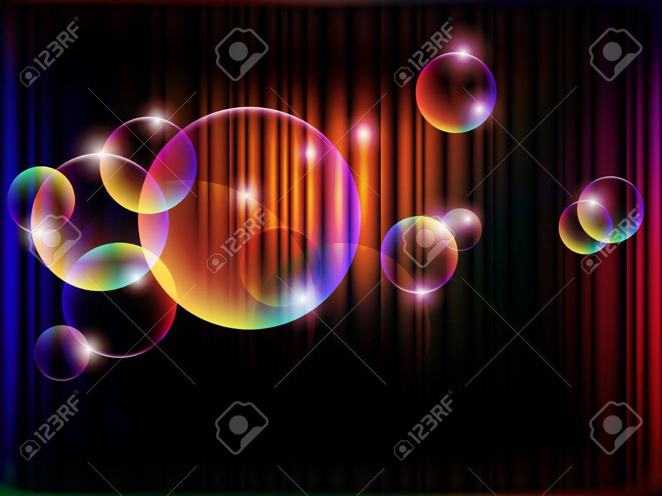 abstract night with magical bubbles, EPS 10 with mesh Stock Vector - 10301446