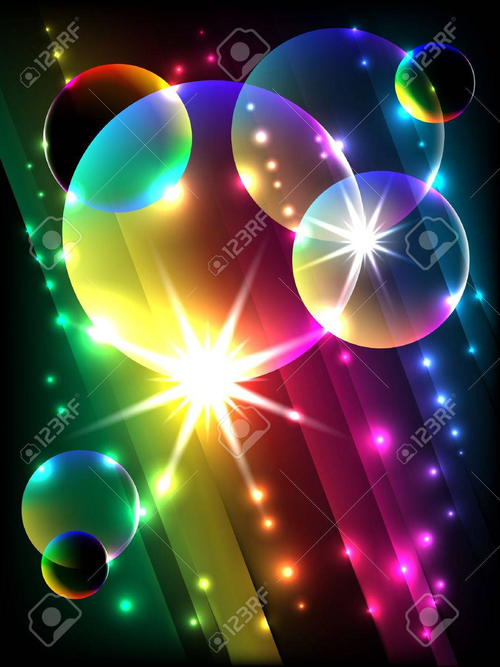 vector glowing colorful corner, EPS 10 with mesh gradient - 10301445