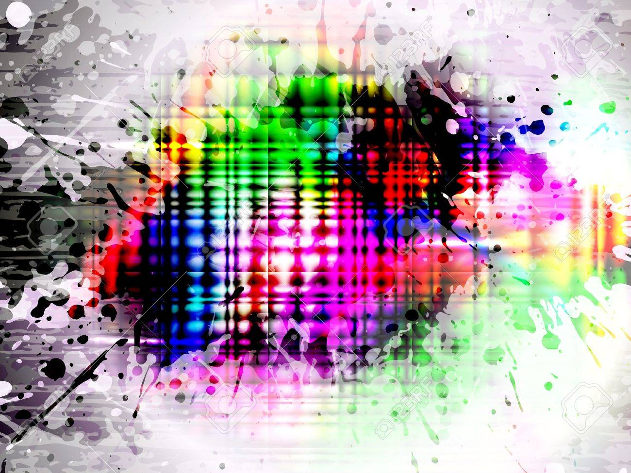 EPS10 glowing colorful splash, vector with mesh gradient - 11111346