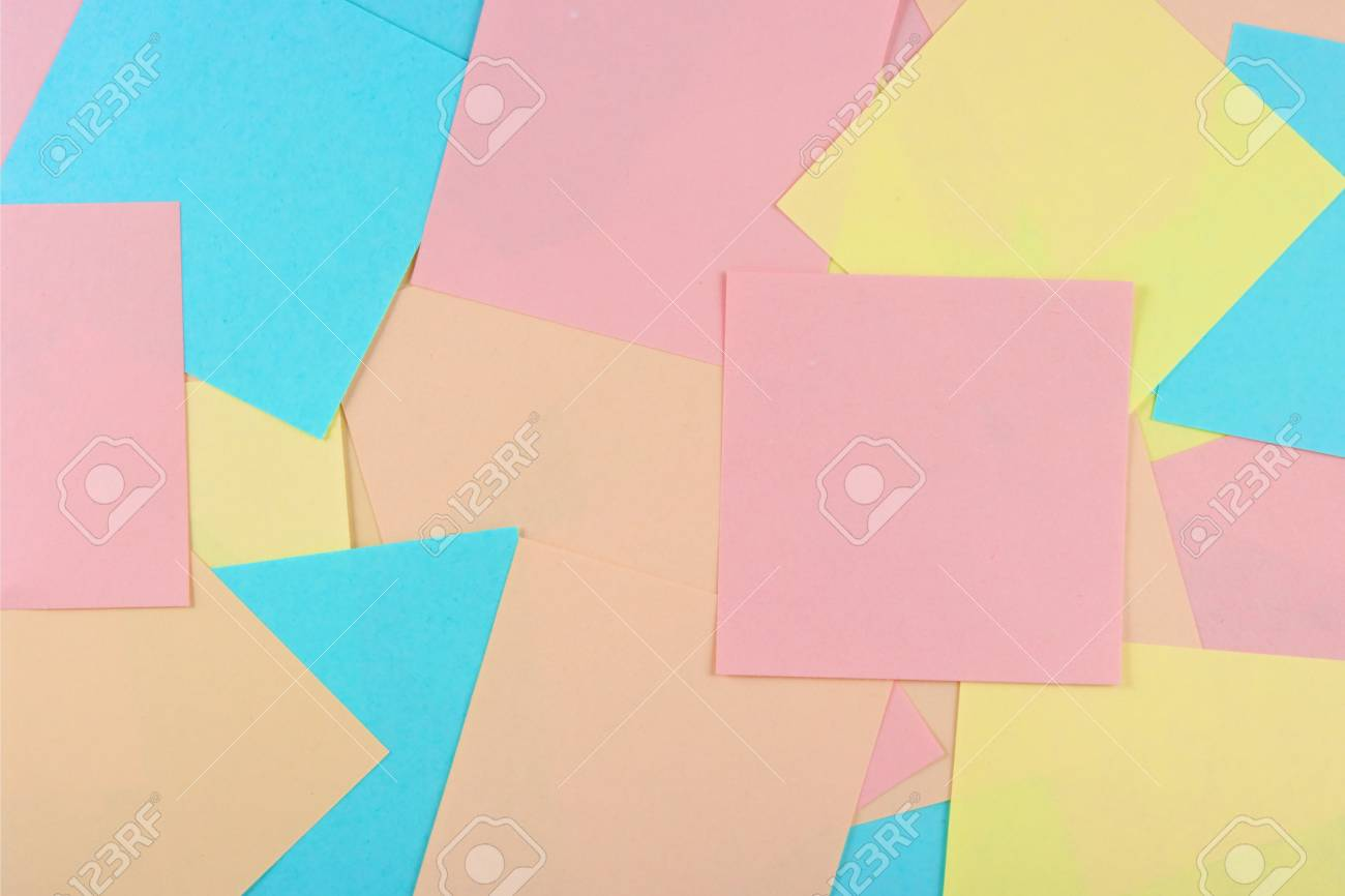 Sheets of paper for notes.  The model for posting your pictures or inscriptions. Stock Photo - 3485722