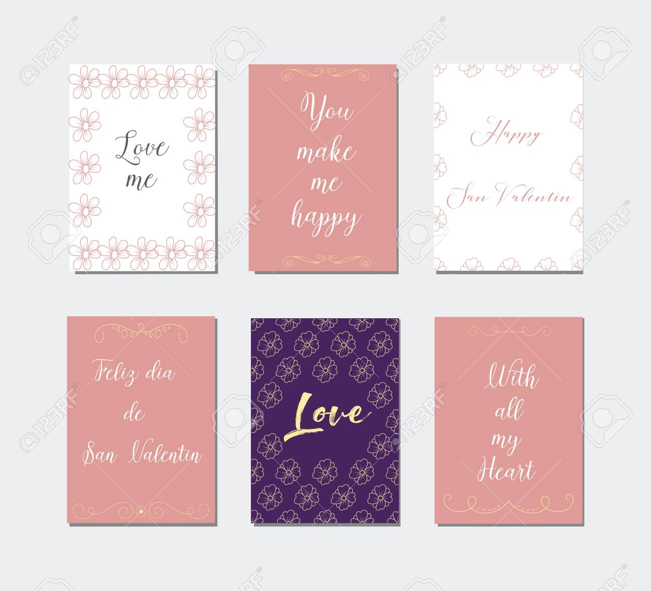 Decorative greeting cards for valentines daytypography sete decorative greeting cards for valentines daytypography sete main symbols of the holiday m4hsunfo