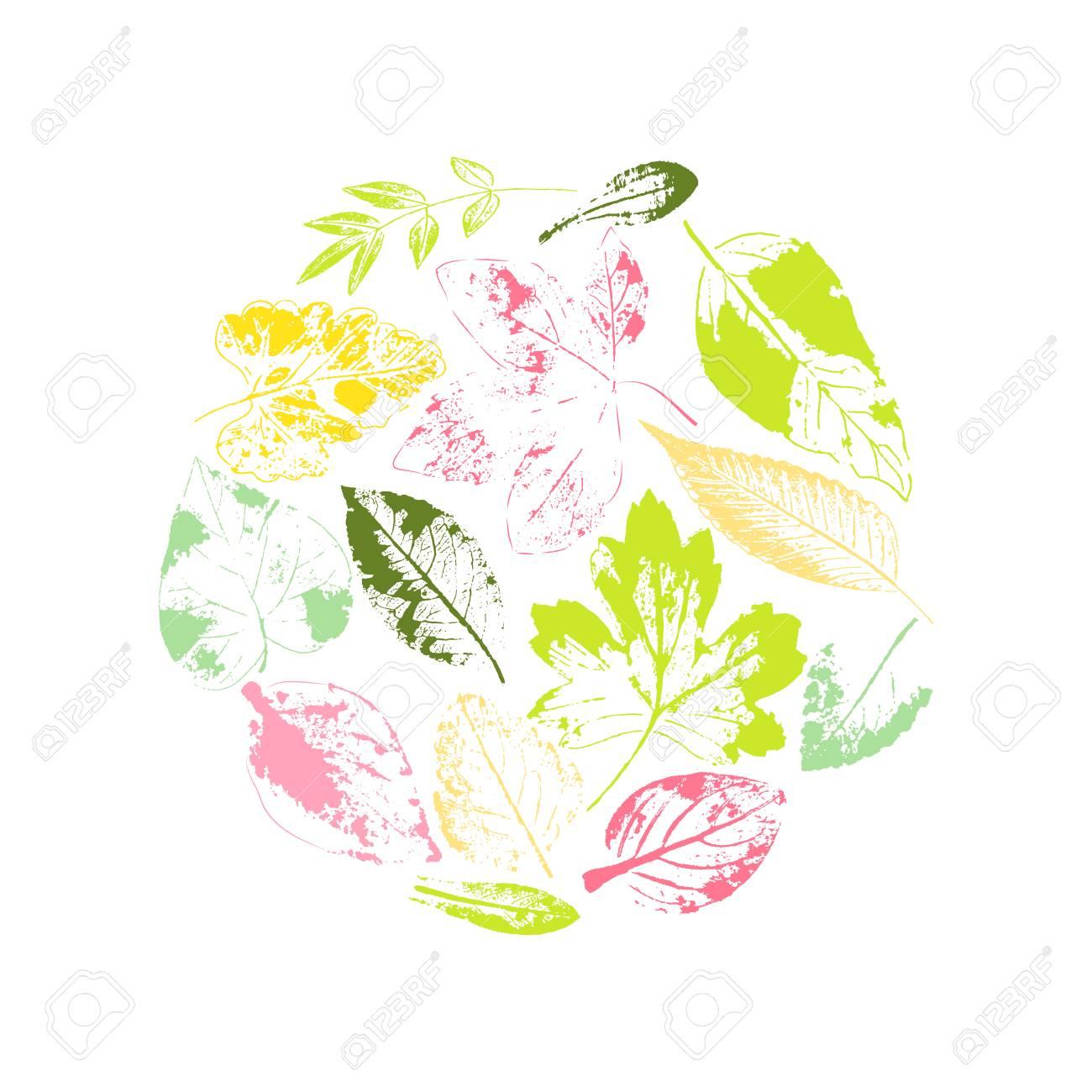 Leaf line icon set  Fertility and growth symbol