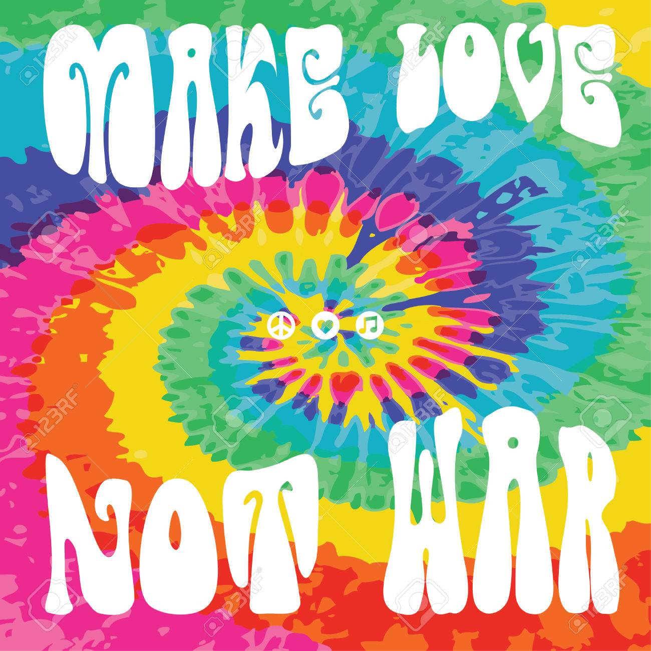 Make love not war tie dye - 51997924
