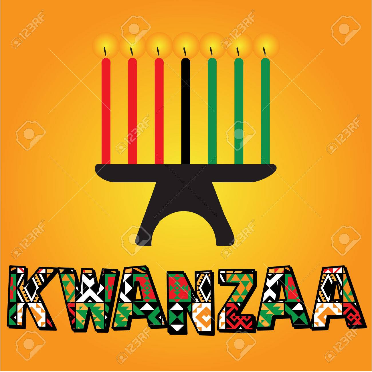 The seven kwanzaa candles illustration - 51007230