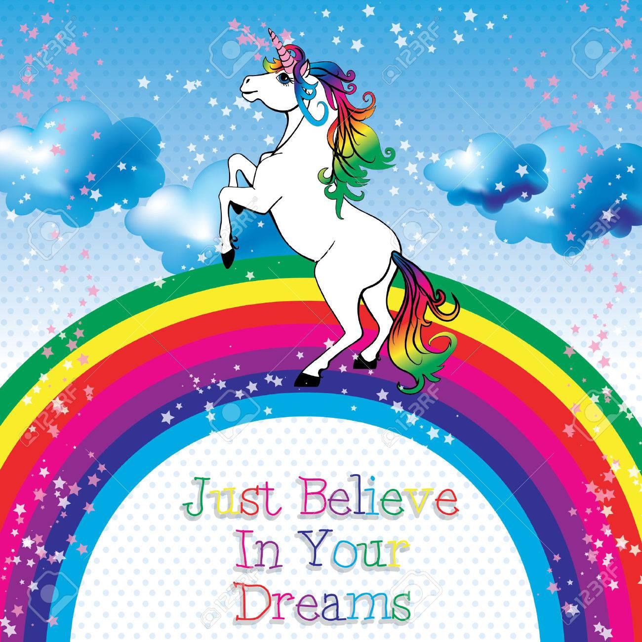 ユニコーンを信じる夢ベクトルのイラスト素材ベクタ Image 50984422