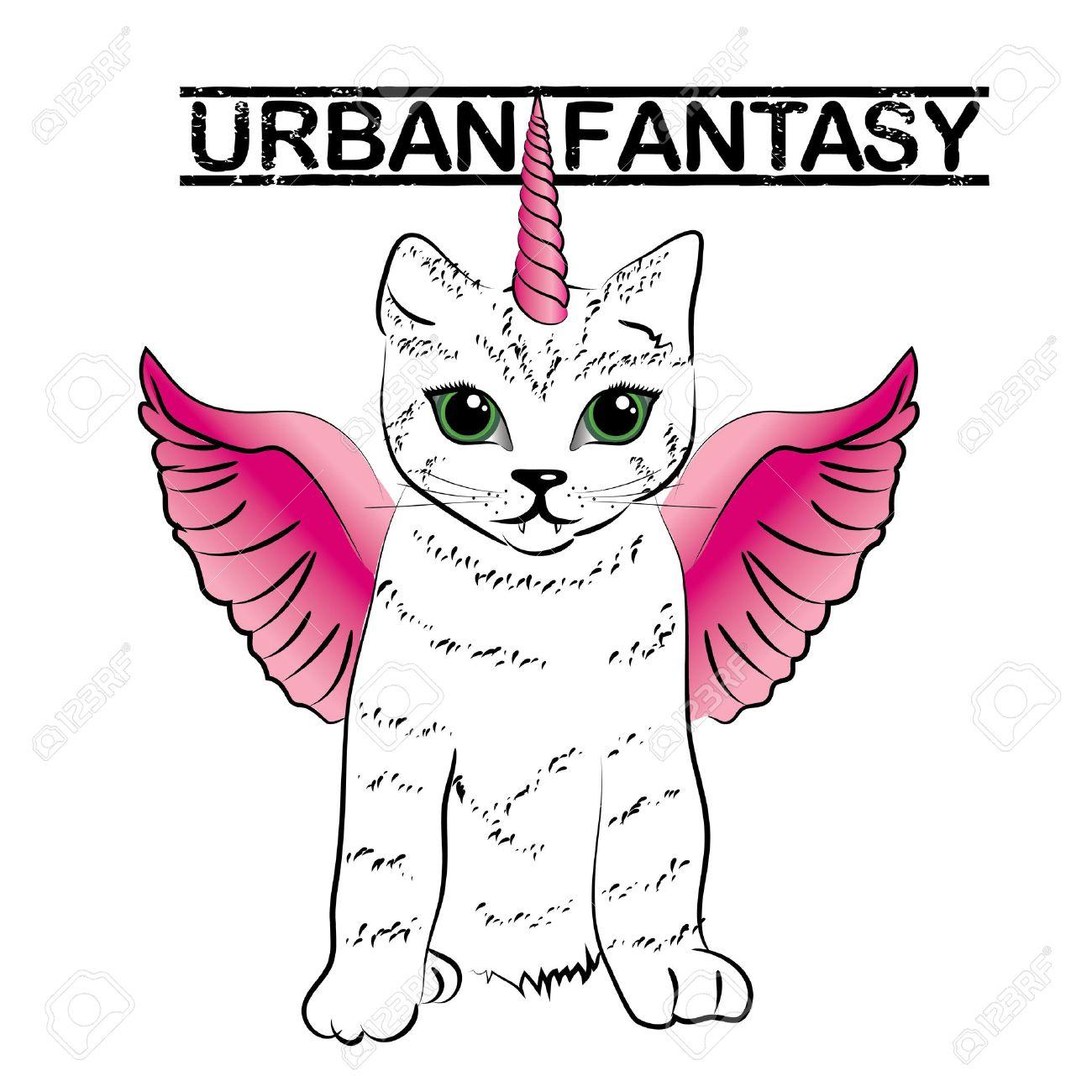 Urban fantasy - cute unicorn cats - 50969319