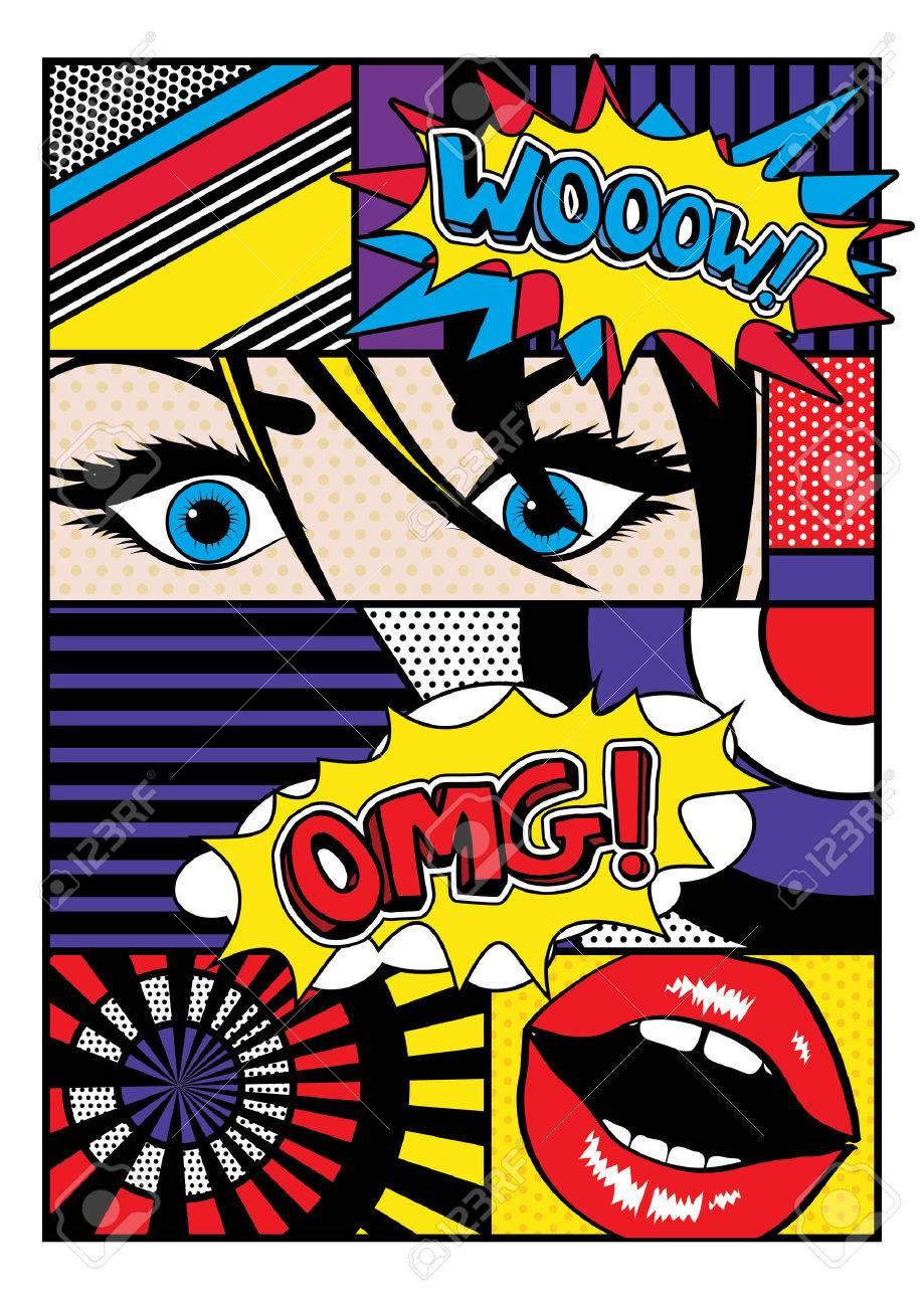 Pop art comic style - 50925673