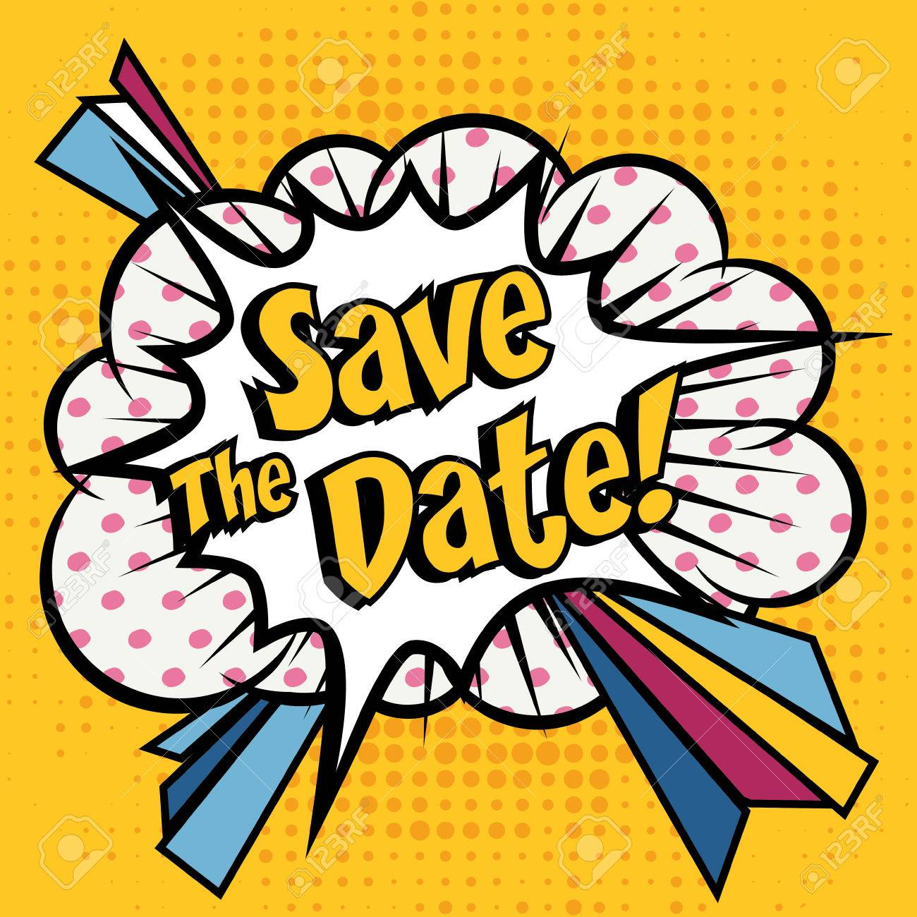 save the date pop art royalty free cliparts vectors and stock rh 123rf com