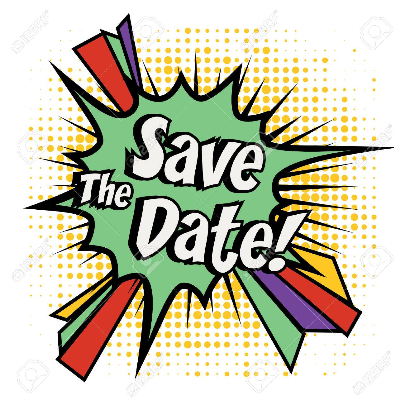 save the date pop art royalty free cliparts vectors and stock rh 123rf com free clipart images save the date save the date clipart free download