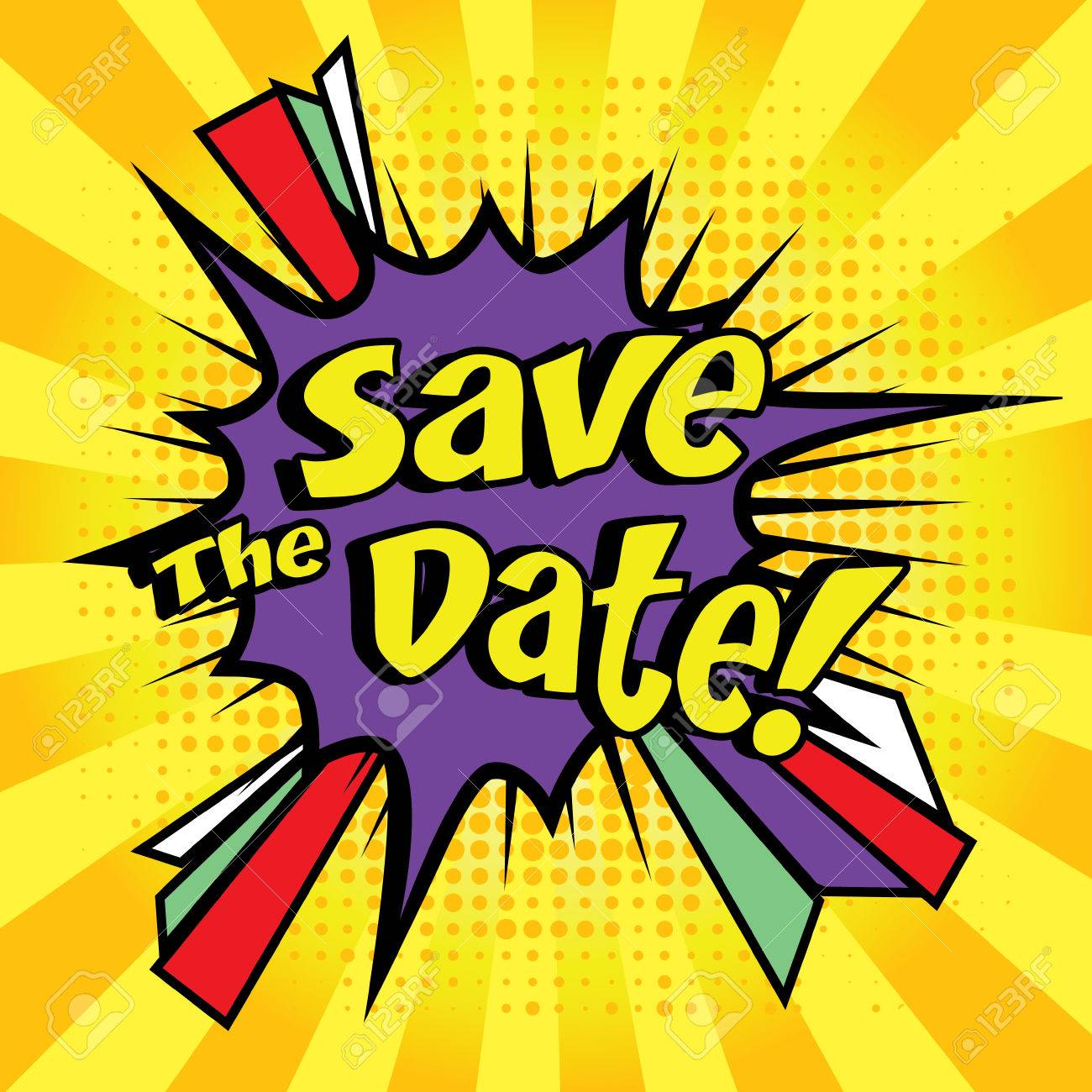 Save the date pop art - 51191157