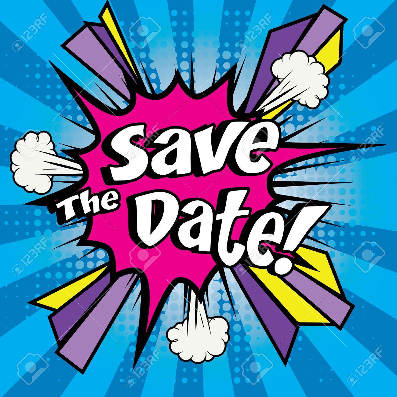 Save the date pop art - 51191158