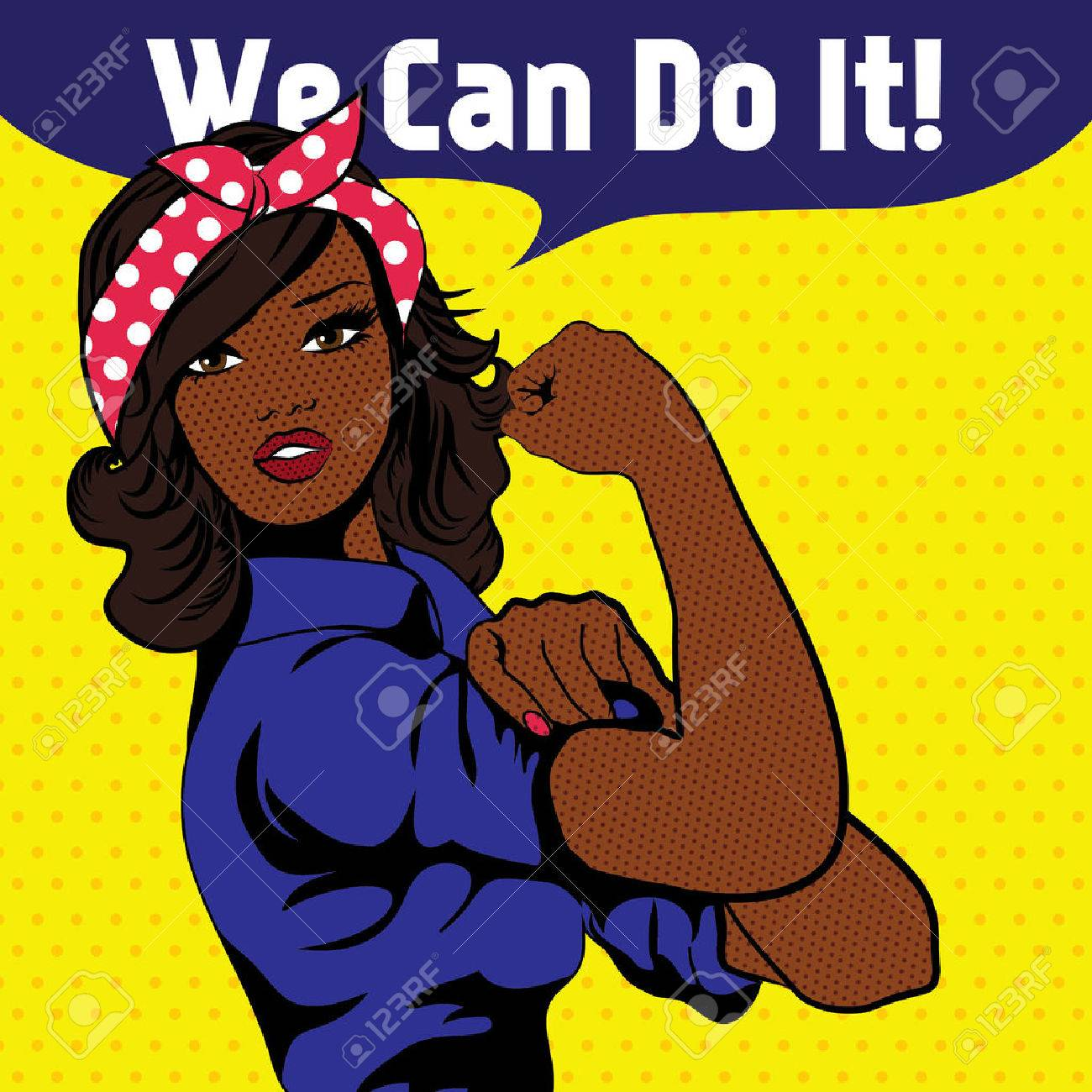 We Can Do It, an iconic woman's fist symbol - 51860629