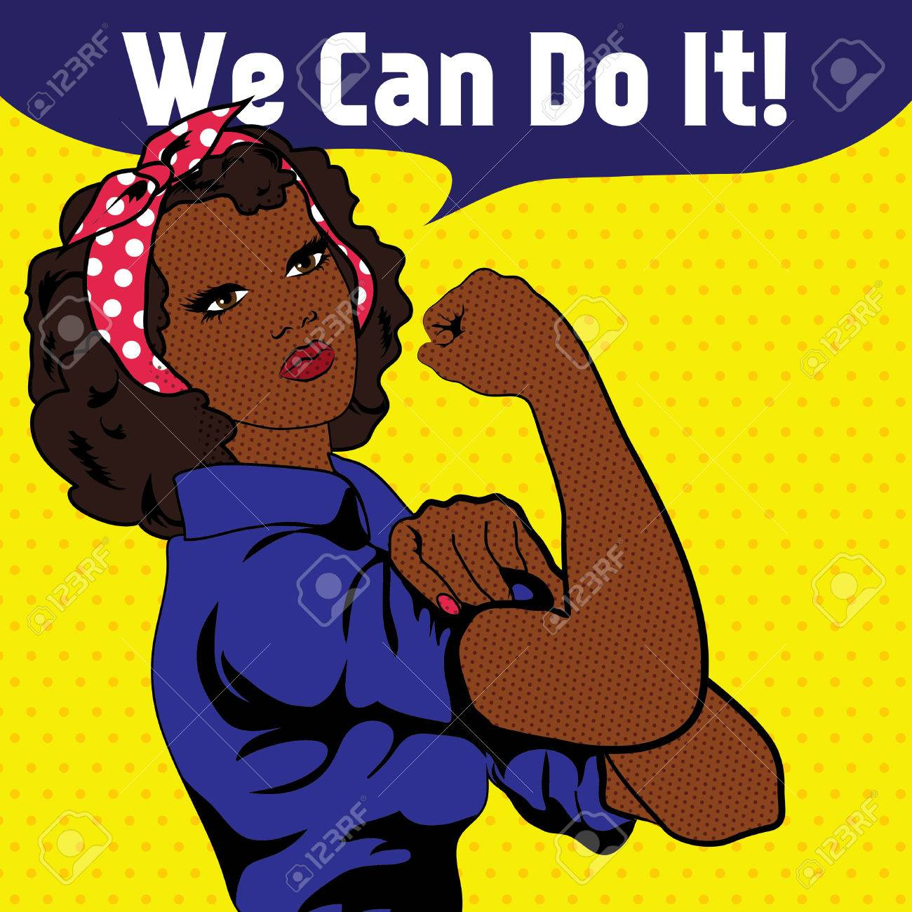 We Can Do It, an iconic woman's fist symbol - 51860631