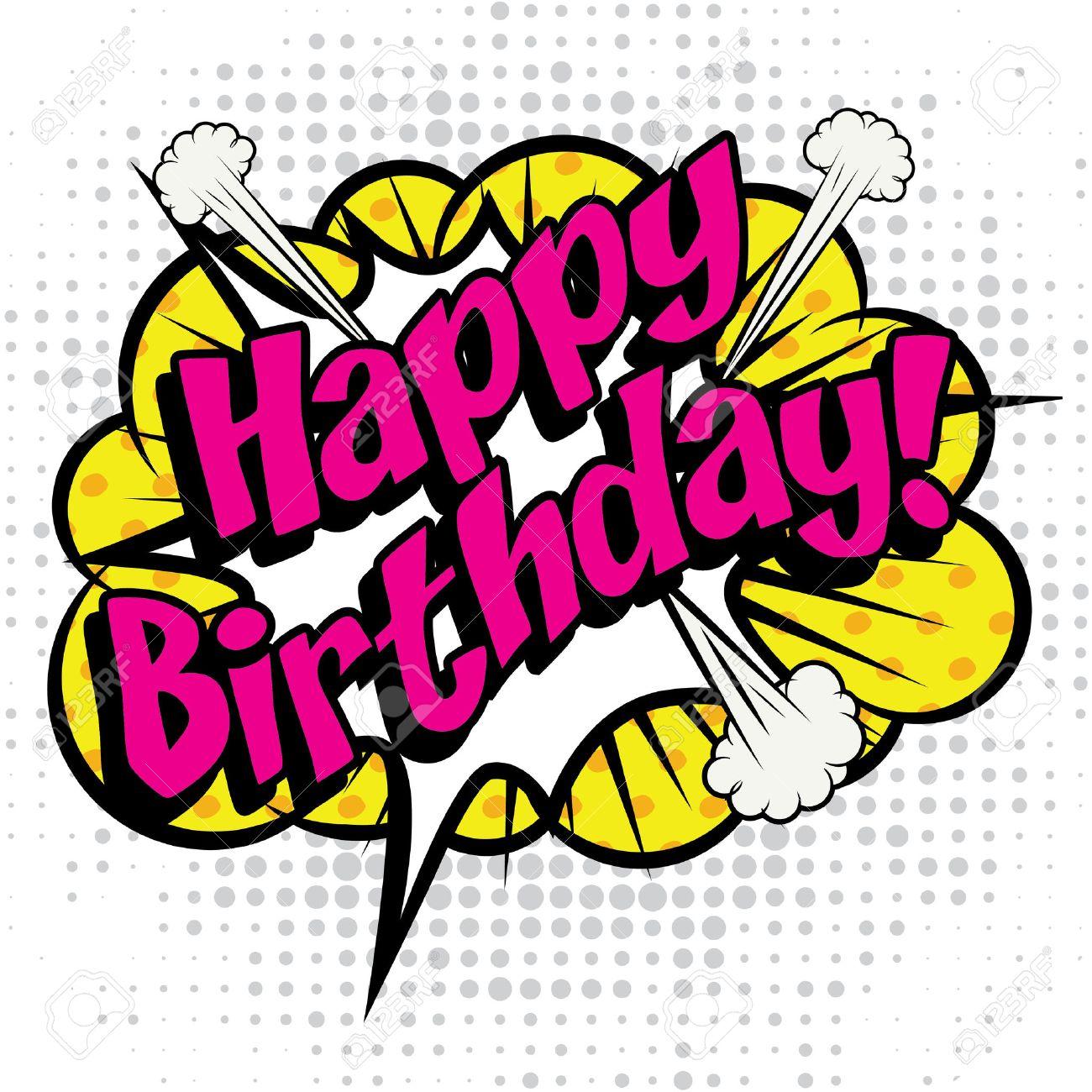 Pop Art comics icon Happy Birthday! - 51869822