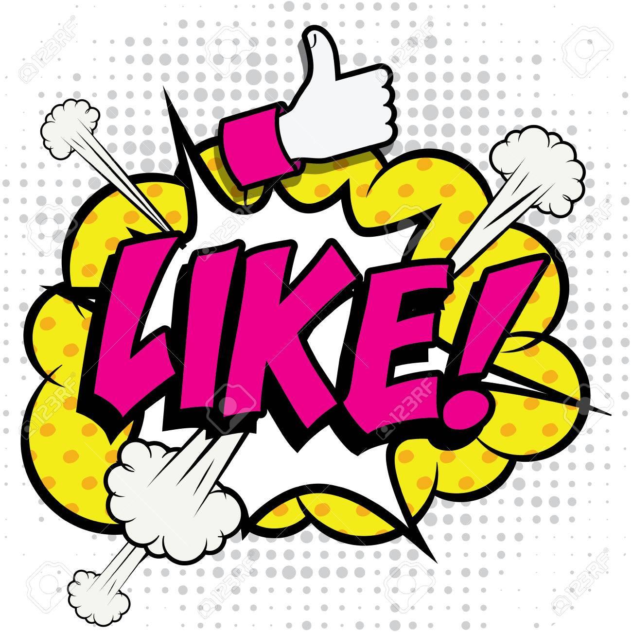 Pop Art comics icon Like! - 51869836