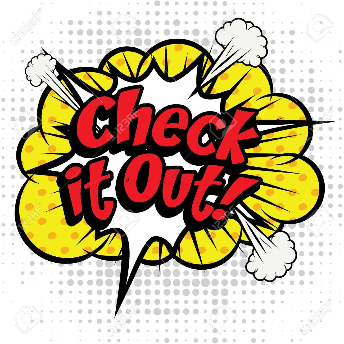 Pop Art comics icon Check It Out! - 52015562