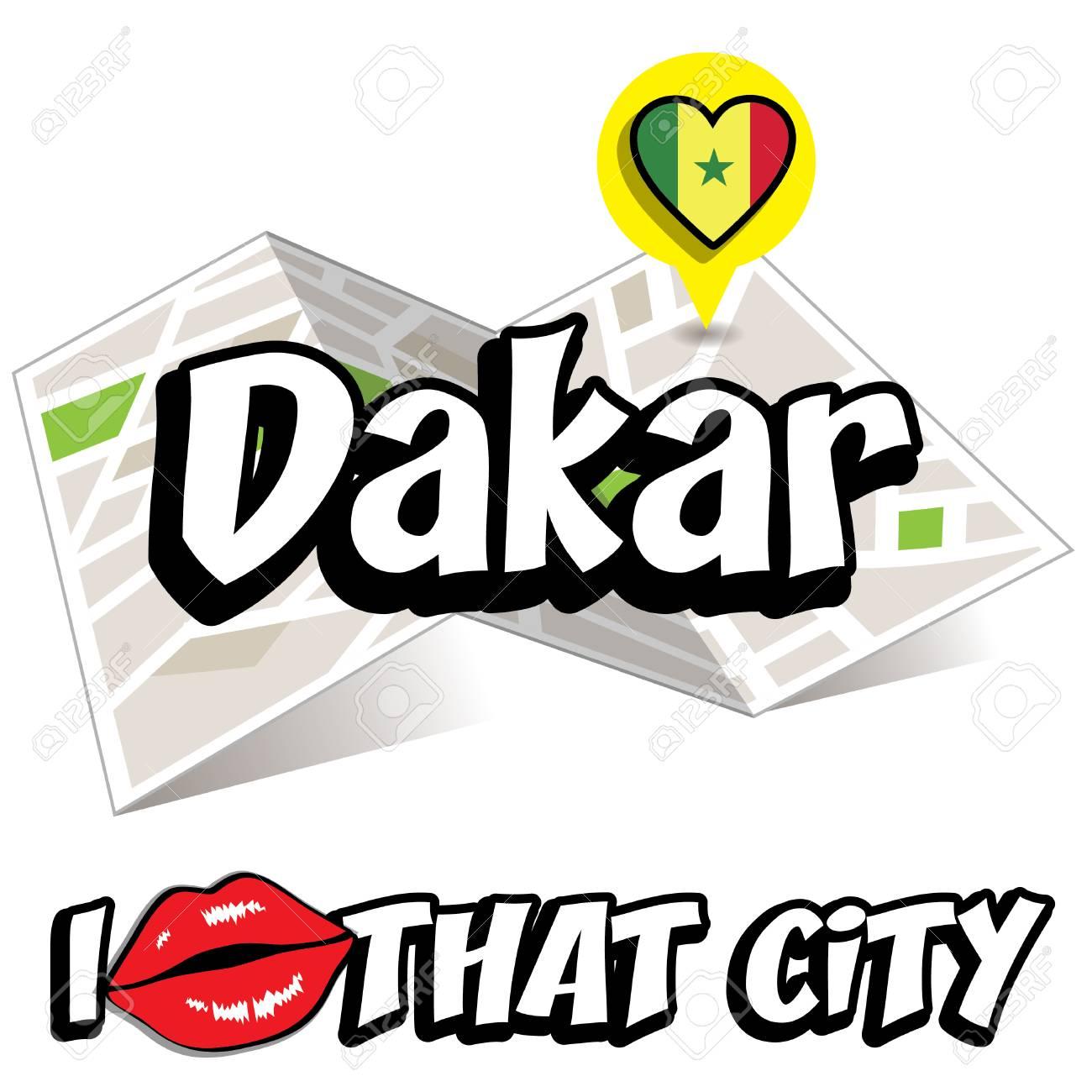I LOVE DAKAR PORTE-CL/ÉS THE CAPITAL CITY OF SENEGAL KEYCHAIN