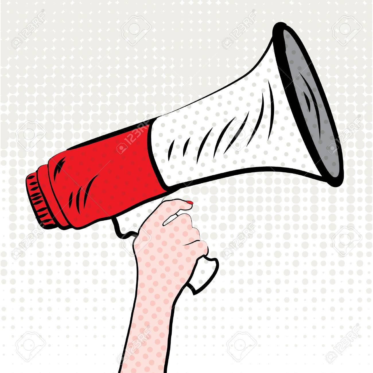 Pop art megaphone design - 52459592