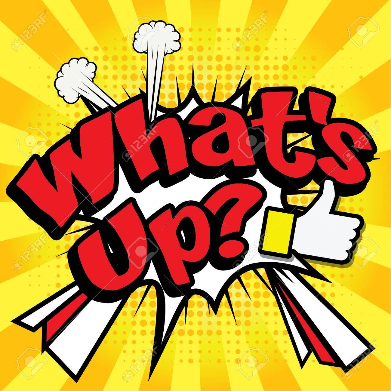 Art comics icon what's up typography - 57389451