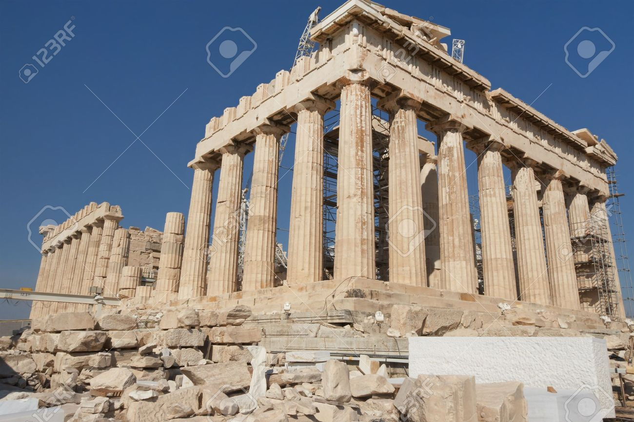 Greece, Athens. The ancient Greek temple of the Parthenon in the Acropolis of Athens Stock Photo - 12923068