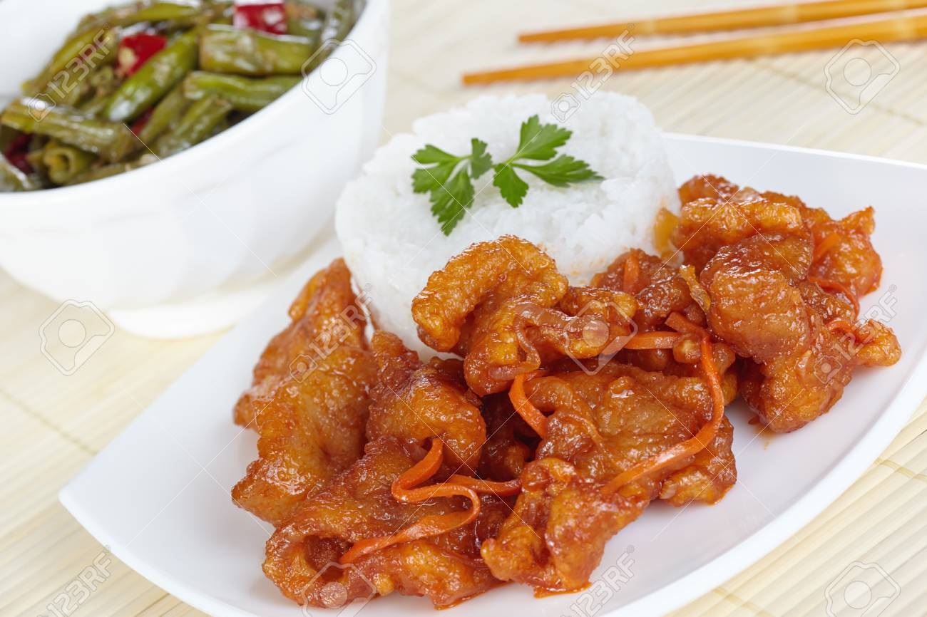 Chinese cuisine pork in batter and sweet and sour sauce with chinese cuisine pork in batter and sweet and sour sauce with green beans in sichuan forumfinder Images