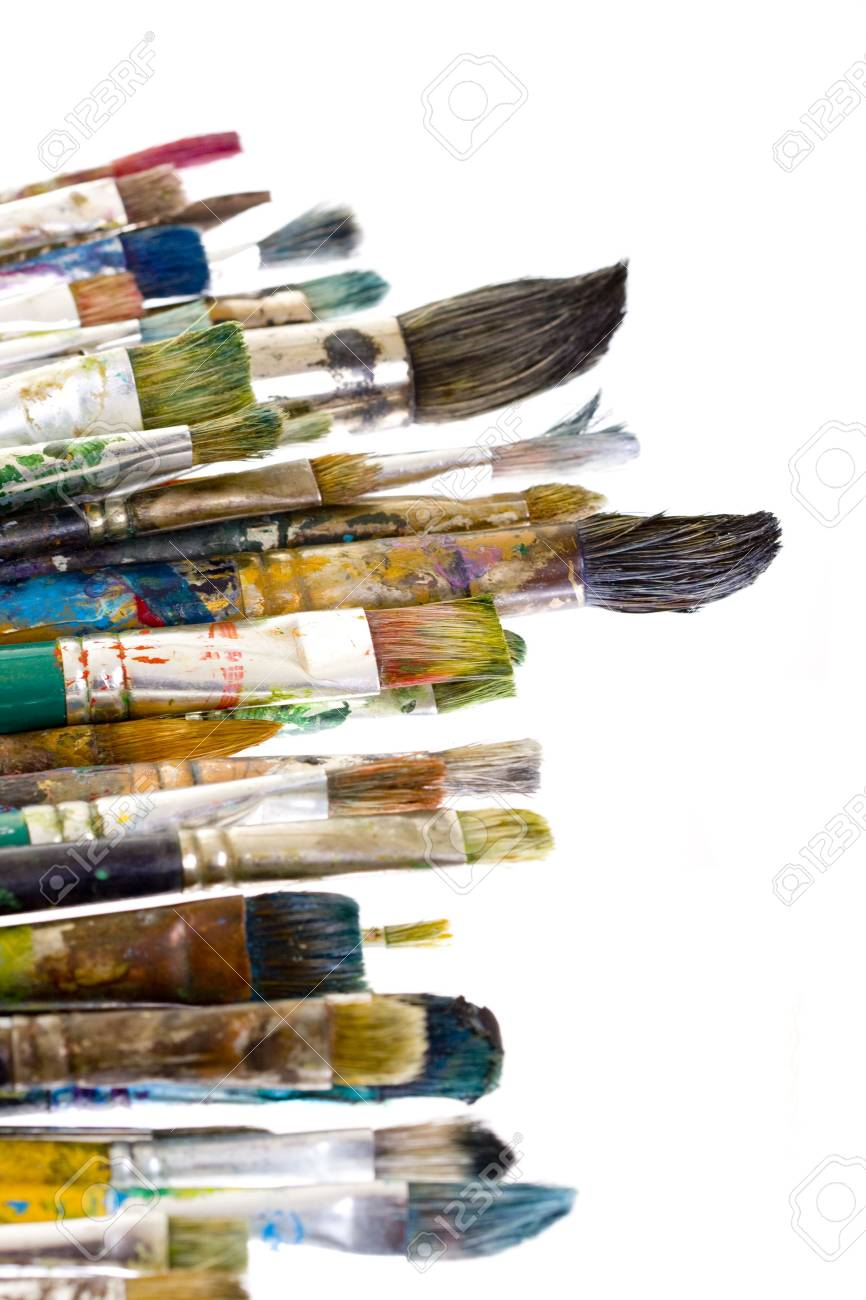 Painting brushes isolated on white Stock Photo - 4724524