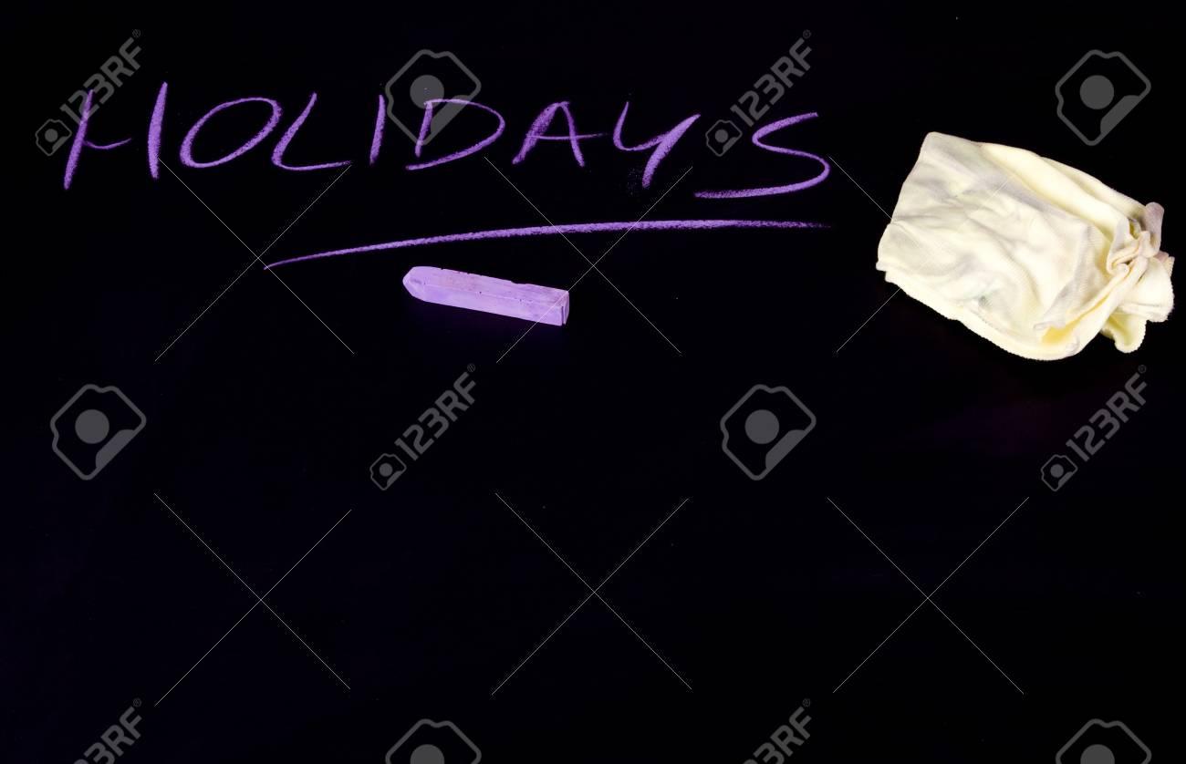 Holidays written on black chalkboard Stock Photo - 7271841
