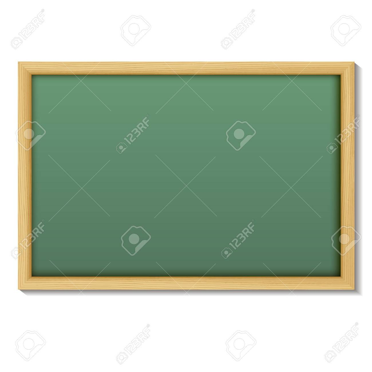 Blank Chalk Green Board In A Wood Frame For Write And Teach On ...