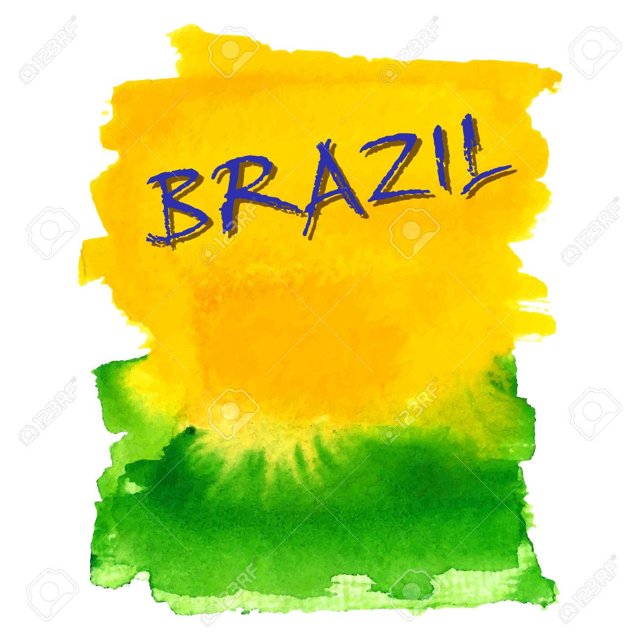 Handmade watercolor brazil flag brasil stock photos freeimages com - Handmade Watercolor Brazil Flag Background Stock Vector 39044175