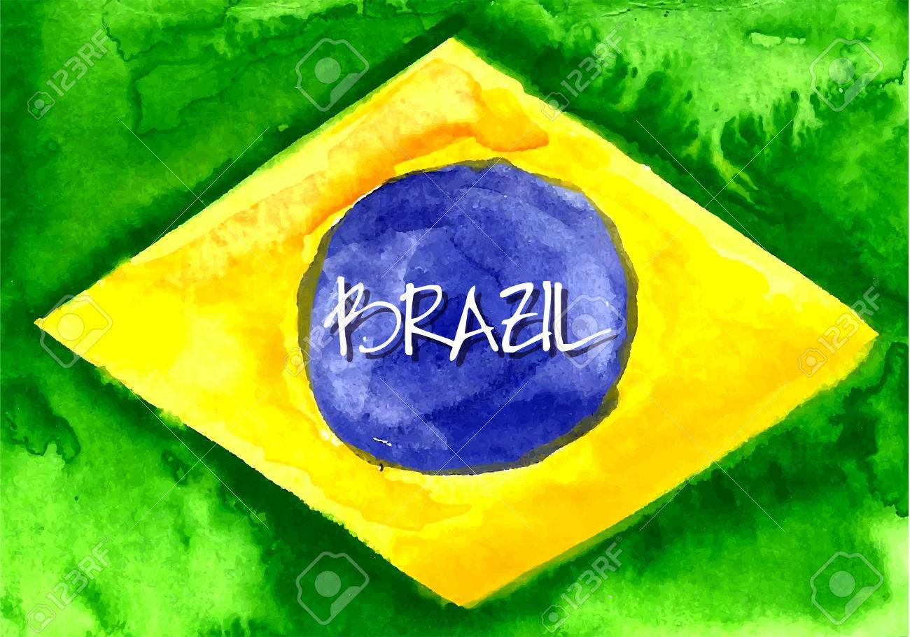 Handmade watercolor brazil flag brasil stock photos freeimages com - Handmade Watercolor Brazil Flag Background Stock Vector 39044110